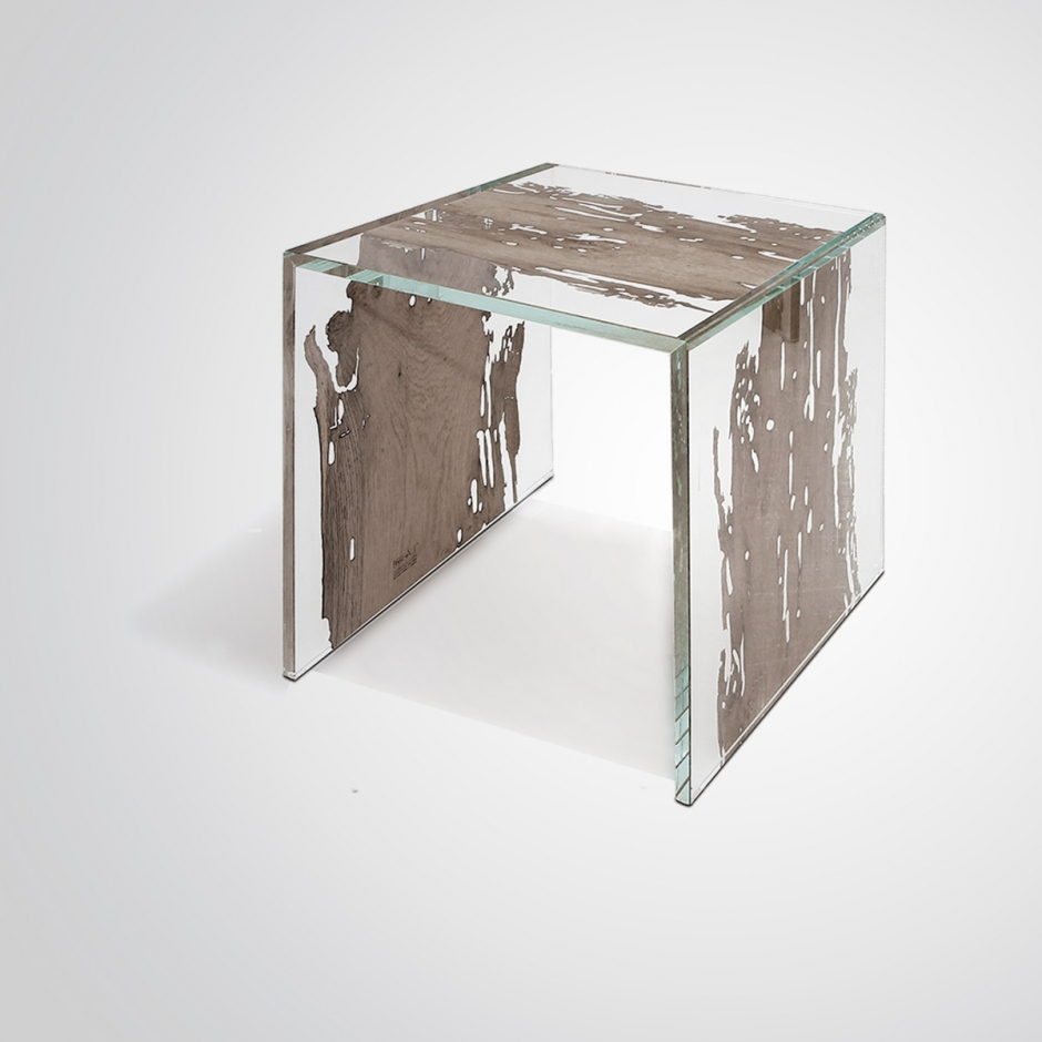 Side table CONTINUO by BRICALE™ - Venice Briccola wood and glass