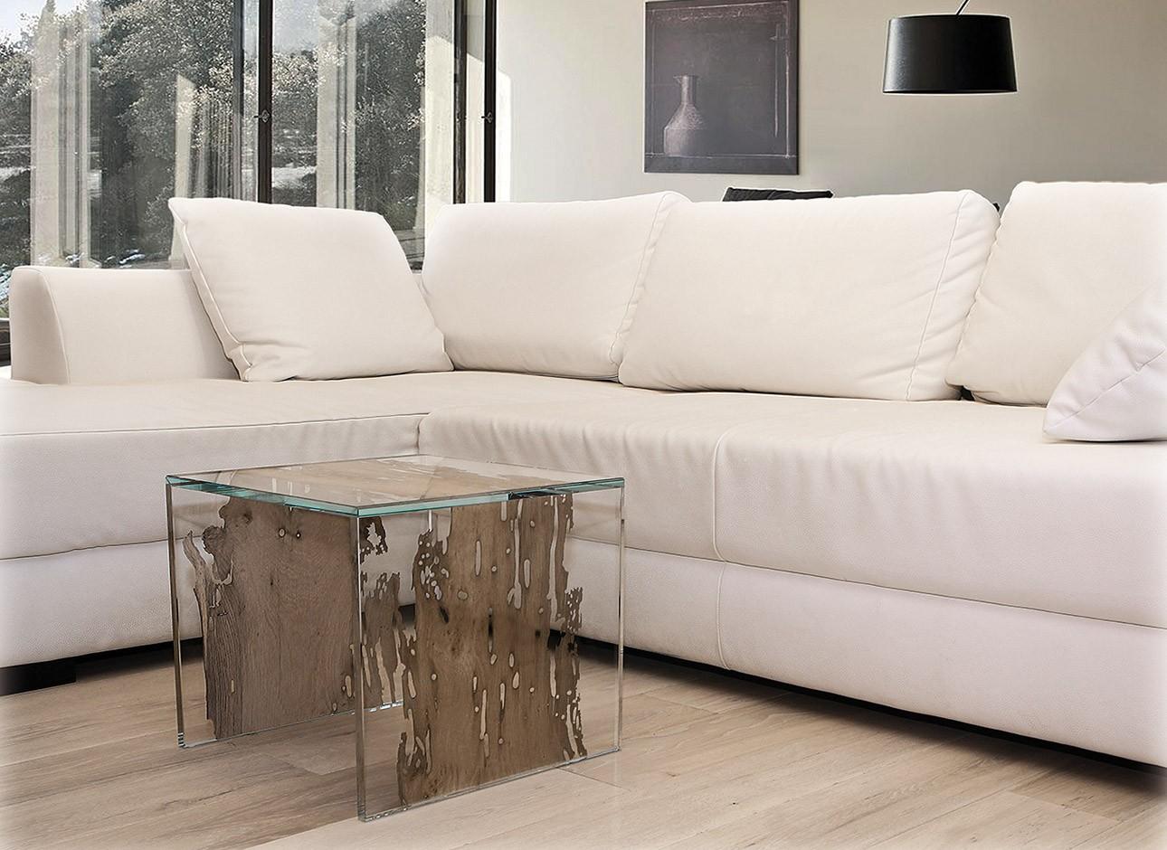Tavolino CONTINUO by BRICALE™ - Vetro e legno di briccola veneziana