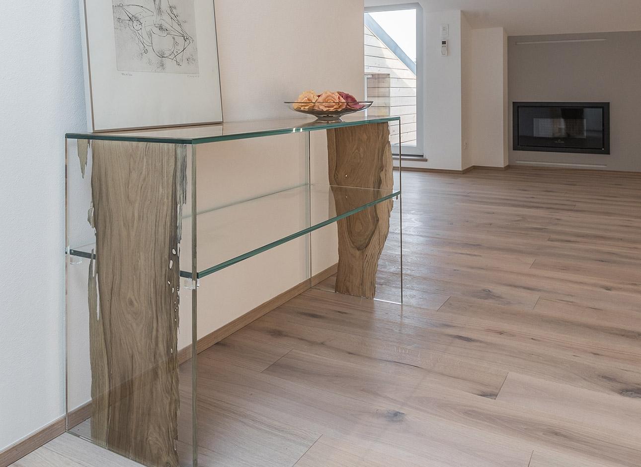Consolle CONTINUO by BRICALE™ - Vetro e legno di briccola veneziana